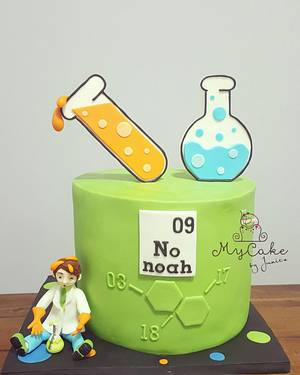 Science cake for little scientist :) - Cake by Hopechan