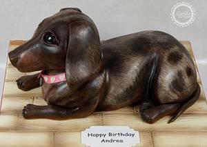 Dachshund (Sausage Dog) Cake - Cake by kingfisher