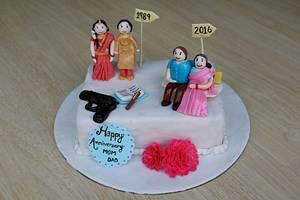 Now & Then Cake - Cake by Bake Fresh by Shruti