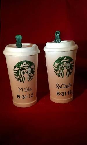 Starbucks topper - Cake by Robin Meyers
