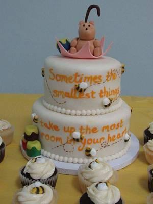 Pooh Bear baby shower cake - Cake by m1bame