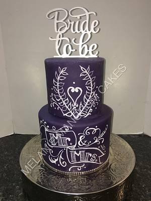 Bridal Shower Cake - Cake by Melanie Mangrum