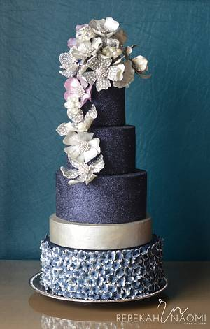 Jeweled cake for American Cake Decorating Trend issue - Cake by Rebekah Naomi Cake Design