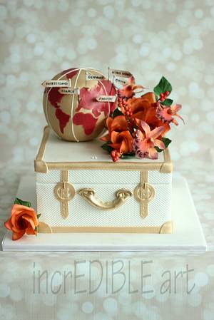 Around the world- Pre Wedding Cake - Cake by Rumana Jaseel