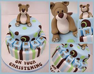 cute boys Christening Cake by Sweet Temptations Cakes - Cake by Louise Pain