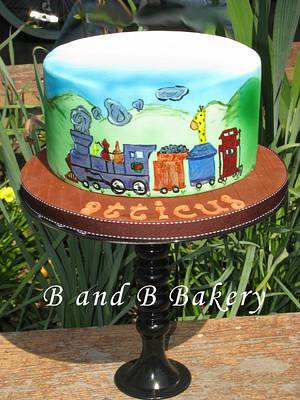 Painted Locomotion - Cake by CakeLuv