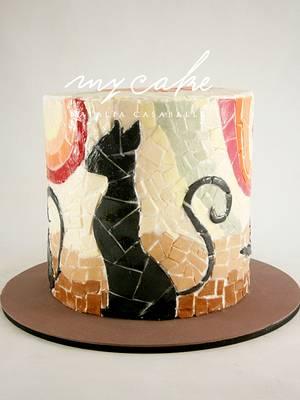 Cat mosaic - Cake by Natalia Casaballe