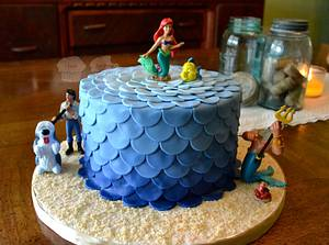 Ombre Mermaid Cake - Cake by Susan