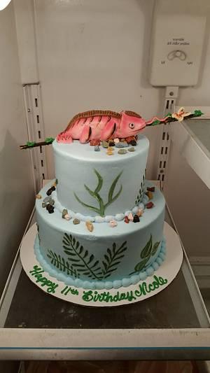 Chameleon cake - Cake by Wendy65