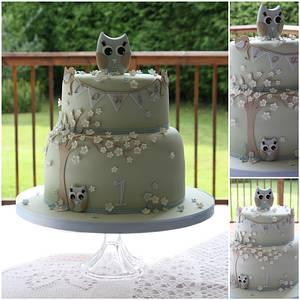 Little Owls - Cake by TiersandTiaras