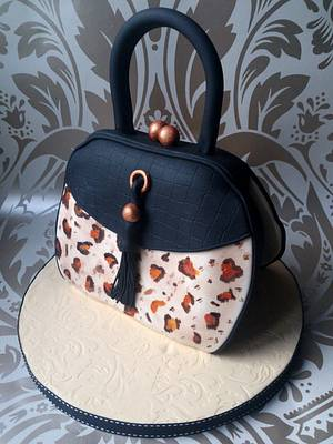 Vintage Leopard Print Handbag - Cake by Dollybird Bakes