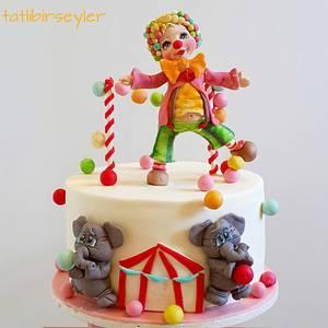 clown cake - Cake by tatlibirseyler