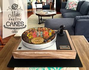 Linn Sondek LP12 record cake - Cake by Make Pretty Cakes