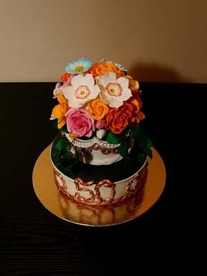 Flowers  - Cake by Rozy
