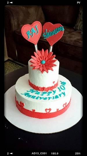 Anniversary Cake! - Cake by PoonamJ