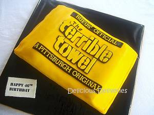 The Terrible Towel - Cake by DeliciousDeliveries