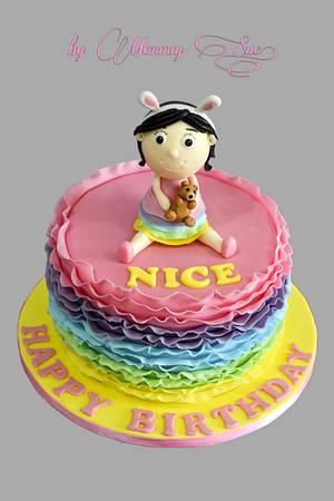 Little Girl on Ruffles - Cake by Mommy Sue
