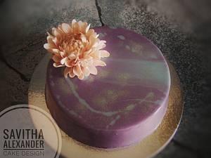 Dahlia cake - Cake by Savitha Alexander