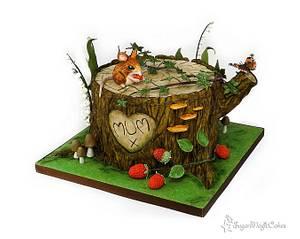Overgrown Tree Stump - Cake by SugarMagicCakes (Christine)