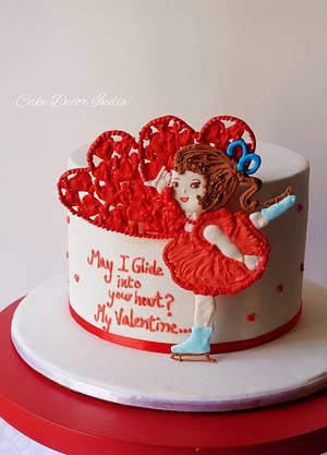 Valentine's day cake1 - Cake by Prachi Dhabaldeb