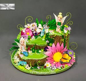 Tinker Bell Flower Cake - Cake by MLADMAN