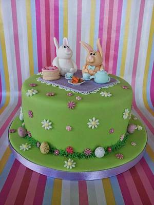 Easter Bunnies Cake - Cake by Shoreline Sugar Design by Sarah