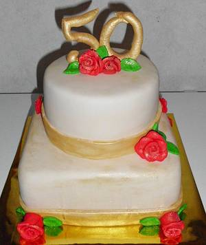 My First 50th Wedding Anniversary Cake - Cake by Carrie Freeman