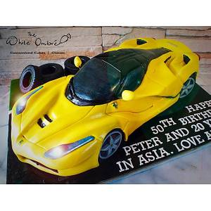 3D Ferrari Laferrari - Cake by Nicholas Ang