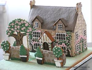 Spring and Easter English gingerbread cottage - Cake by Sayitwithginger
