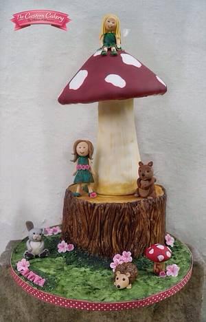 Woodland Fairies - Cake by The Custom Cakery
