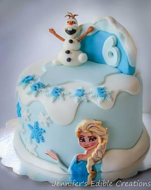 Frozen Birthday Cake - Cake by Jennifer's Edible Creations