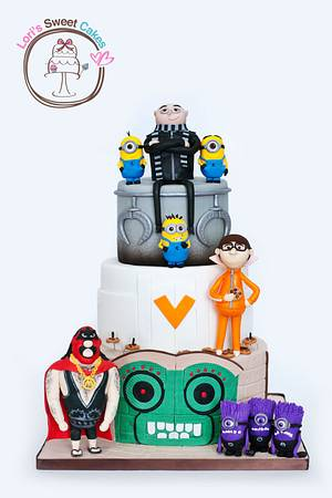 Despicable Me - Cake by Lori's Sweet Cakes