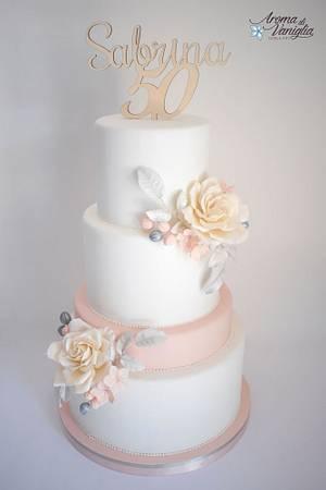 torta 50 anni - Cake by aroma di vaniglia