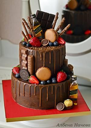 Natural Ganache drip cake - Cake by Albena Nacheva