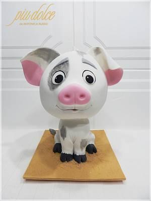 Pua - Moana - Cake by Piu Dolce de Antonela Russo