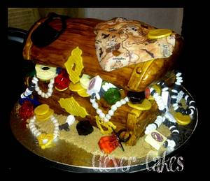 Arrrrgggg! A Pirate Booty - Cake by Carrie Freeman