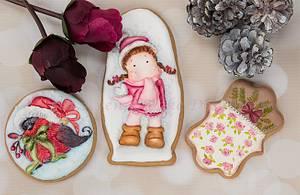 Dimensional Winter Wonderland Cookies 🌲☃️🕊️  - Cake by Bobbie