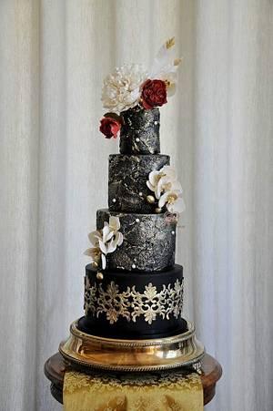 Black Beauty  - Cake by Sumaiya Omar - The Cake Duchess