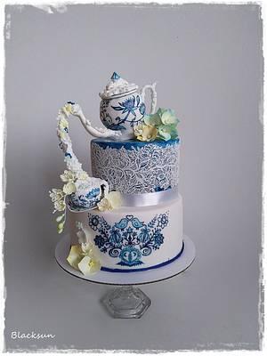 Flowering tea set - Cake by Zuzana Kmecova