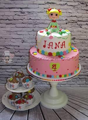 Holly Sleighbells Lalaloopsy Cake - Cake by tweetylina