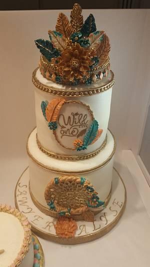 "Boho ""Wild One"" 1st birthday & smash cakes - Cake by eiciedoesitcakes"