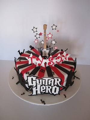 Guitar Hero cake - Cake by Dittle