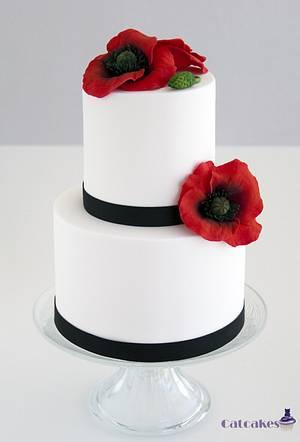 Poppy cake - Cake by Catcakes
