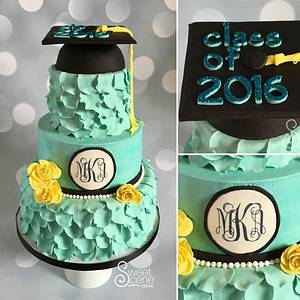 A Southern Graduation - Cake by Sweet Scene Cakes
