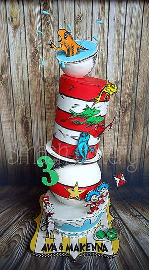 Seuss Structured Topsy Turvy - Cake by Lindsey Krist