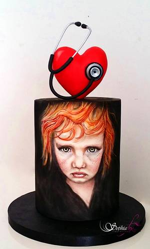 Sophia Fox - Collaboration Amore - a heart for children - Cake by Sophia  Fox
