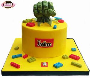 Lego Hulk Cake - Cake by Jerri