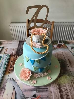 70th Vintage Tea - Cake by Kaz