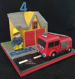 Fireman Sam - Cake by Amelia Rose Cake Studio
