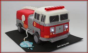 Fire truck cake - Cake by Classic Cakes by Sakthi